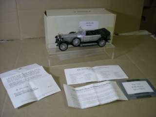 FRANKLIN MINT 1925 ROLLS ROYCE SILVER GHOST NEW BOXED