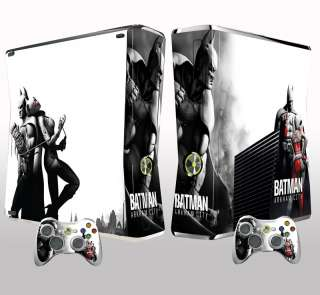 Xbox 360 SLIM BATMAN ARKHAM CITY skin, sticker