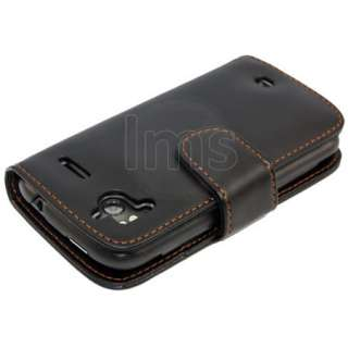 AIO Black Wallet Leather Case For HTC Sensation XE + LCD Screen Screen