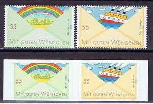 Bund ** Regenbogen und Schiff nass  und selbstklebend