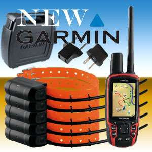 BRAND NEW. COMBO GARMIN ASTRO 320 GPS + 5 x DOG TRACKING COLLARS DC40