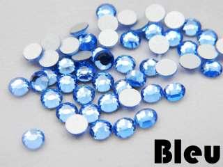 Verre Strass Cristal à Coller 10 couleurs au choix 3mm SS12 Nail Art