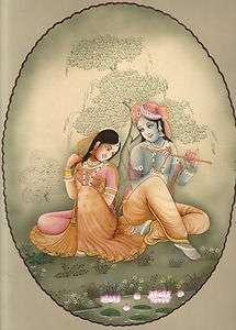 LORD KRISHNA RADHA Original HANDMADE Hindu Religious God Goddess
