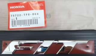 HONDA FIT EMBLEM, RR, OEM PN:75722 TF0 004