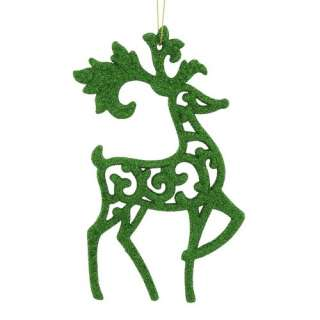 Holiday Time Green Notes Reindeer Christmas Ornament