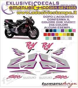 KIT ADESIVI DECAL SUZUKI RGV 250 GAMMA 1993