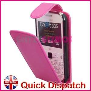 PINK POUCH CASE COVER FOR SAMSUNG CHAT CH@T 335 S3350