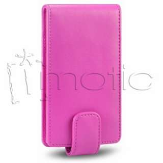 Funda Cuero Piel para Nokia Lumia 800 color Rosa Fucsia Pink