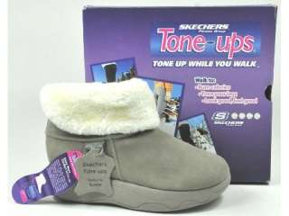 SKECHERS TONE UPS RHYTHMIC SUEDE FITNESS TONING FUR WALKING ANKLE