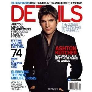 Details Magazine September 2006 Ashton Kutcher Books