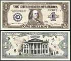 Lot of 100 BILLS  BEN FRANKLIN MILLION DOLLAR BILL NOVELTY NOTE
