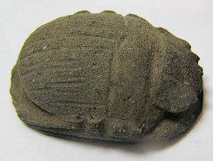 Large Ancient Egyptian Stone heart scarab c.1100 BC.