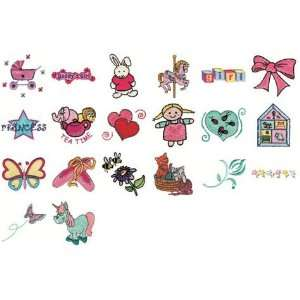 Lil Girls Embroidery Designs by John Deers Adorable Ideas