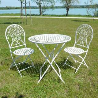 Salon de jardin en fer forgé   1 table + 2 chaises N°1068