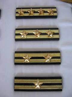 Cased French Officers Two Brass Gorgets and Stripes