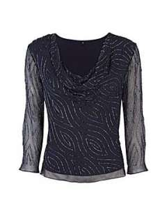 Homepage > Sale > Women > Tops > Jacques Vert Midnight beaded cowl