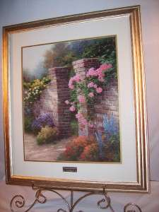 Large Home Interior Homco THOMAS KINKADE The Rose Garden Picture