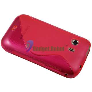 GEL TPU CASE COVER+SCREEN PROTECTOR FOR Samsung Galaxy Y S5360 BLACK