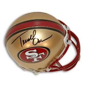 Autographed Terrell Owens San Francisco 49ers Mini Helmet
