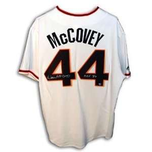 Willie McCovey Signed San Francisco Giants Cream Colored Majestic
