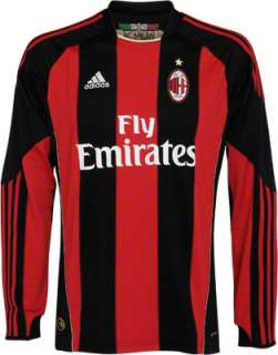 AC Milan adidas Soccer Home Long Sleeve Replica Jersey