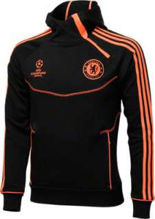Chelsea FC Black adidas Soccer UCL Hooded Sweatshirt
