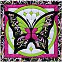 Butterfly II Quilt Magic No Sew Wall Hanging Kit