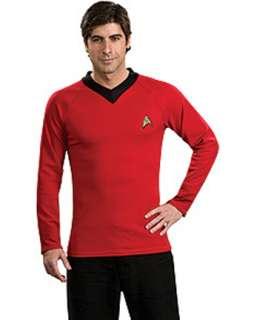 Star Trek Classic Deluxe Red Shirt Costume  Mens TV & Movie Halloween