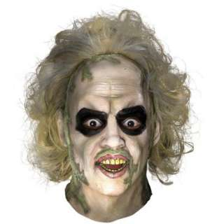 Beetlejuice Overhead Latex Mask with Hair, 33063