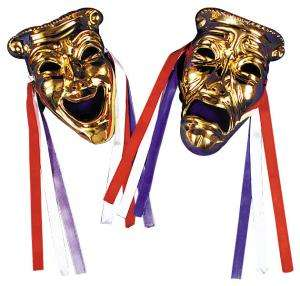 Comedy/Tragedy Faces, Brass   Decorations & Props