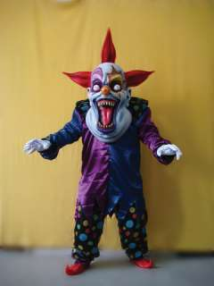 Oversized Evil Clown Red Blue (Adult Costume)