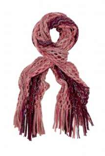 Missoni Accessories  Pink String Open Knit Striped Scarf by Missoni