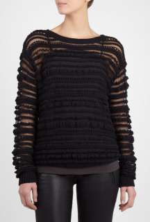 Vanessa Bruno Athe  Black Loose Open Knit Sweater by Vanessa Bruno