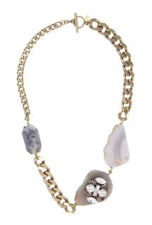 Anton Heunis  Grace Kelly Natural Stone & Swarovski Belcher Necklace