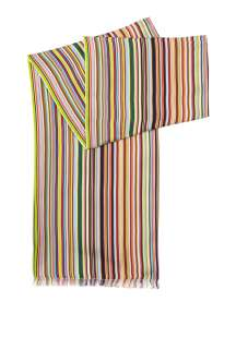 Paul Smith Accessories  Multi Stripe Silk Dress Scarf by Paul Smith