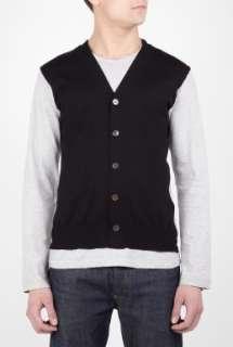 COMME des GARCONS SHIRT  Grey Cardigan Applique Front Top by Comme