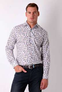 Sky Floral Stripe Mid Fit Shirt by Paul Smith London   Blue   Buy