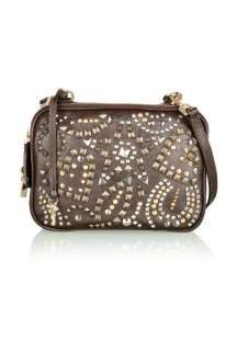 Studded Glam Lily Cross Body Bag by D&G   Brown   Buy Bags Online at