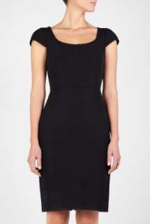Paul Smith Black  Black Ottoman Fitted Shift Dress by Paul Smith