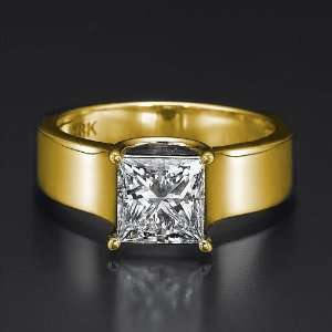 Holyland 1.75 CARAT REAL SOLITAIRE DIAMOND RING 14K YELLOW