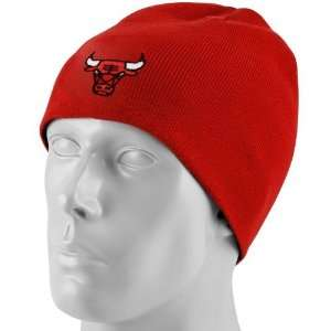 adidas Chicago Bulls Youth Red Basic Logo Skully Knit Beanie: