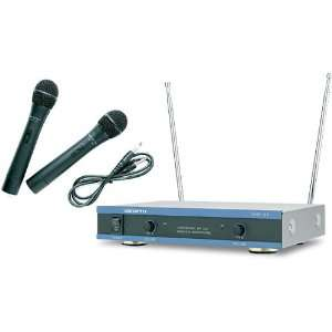 VocoPro 2 Channel VHF Wireless Microphone System Musical Instruments