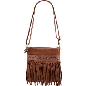 Suede Fringe Crossbody Bag 189214400  handbags