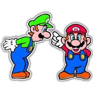 Super Mario Luigi Video Game Arcade car sticker 6 x 5 Automotive