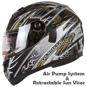 Full Motorcycle Helmet with Air Pump System DOT (Small) Automotive