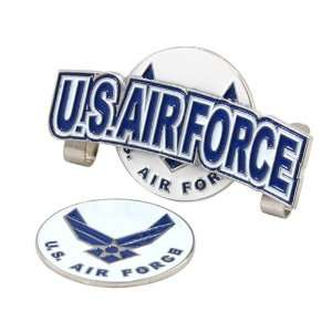US Air Force Hat Clip w/ Golf Ball Marker Sports & Outdoors
