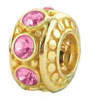 Zable (TM) Product. 925 Sterling Silver Gold Plated October Birthstone