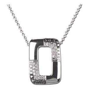 14K White Gold Black White Diamond Necklace Diamond quality AA (I1 I2