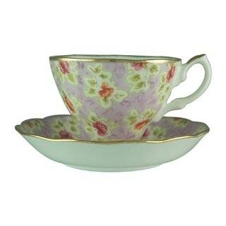 BONE CHINA FOUR LEAF CLOVER TEA CUP AND SAUCER SET D2105  Kitchen