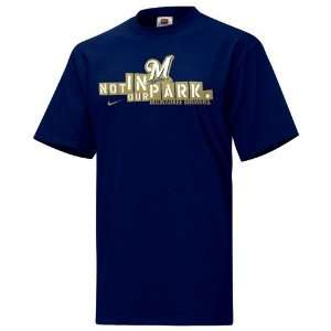 Nike Milwaukee Brewers Navy Blue No Admission T Shirt